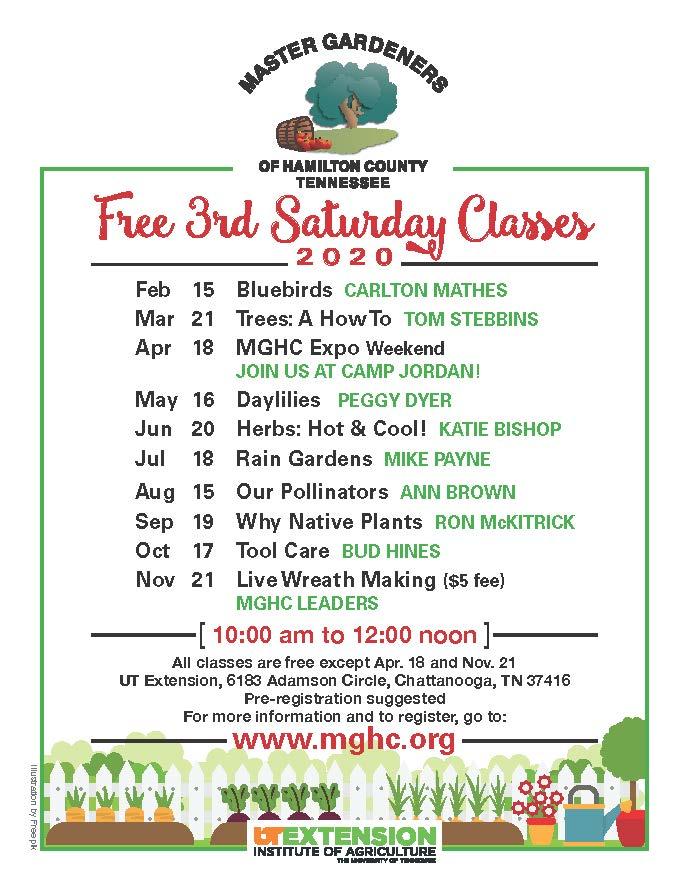 Schedule Of 3rd Saturday Classes