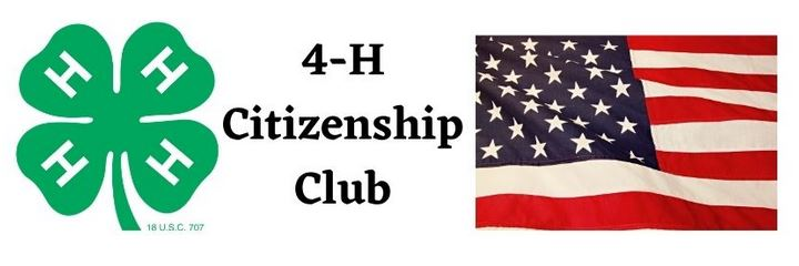 4-H clover logo and an image of the US flag